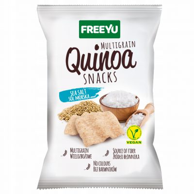 QUINOA Snacks z solą morską FREEYU 70g BIOLOGICO