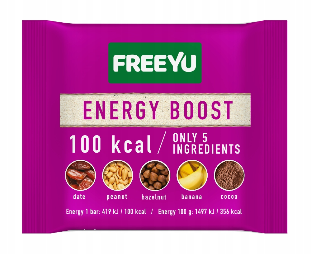 FREEYU Baton daktylowy ENERGY BOOST 28G BIOLOGICO